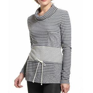 Anthro Striped Trio Cowl neck Pullover Sweater!